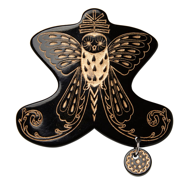 Hair baretta Owl black