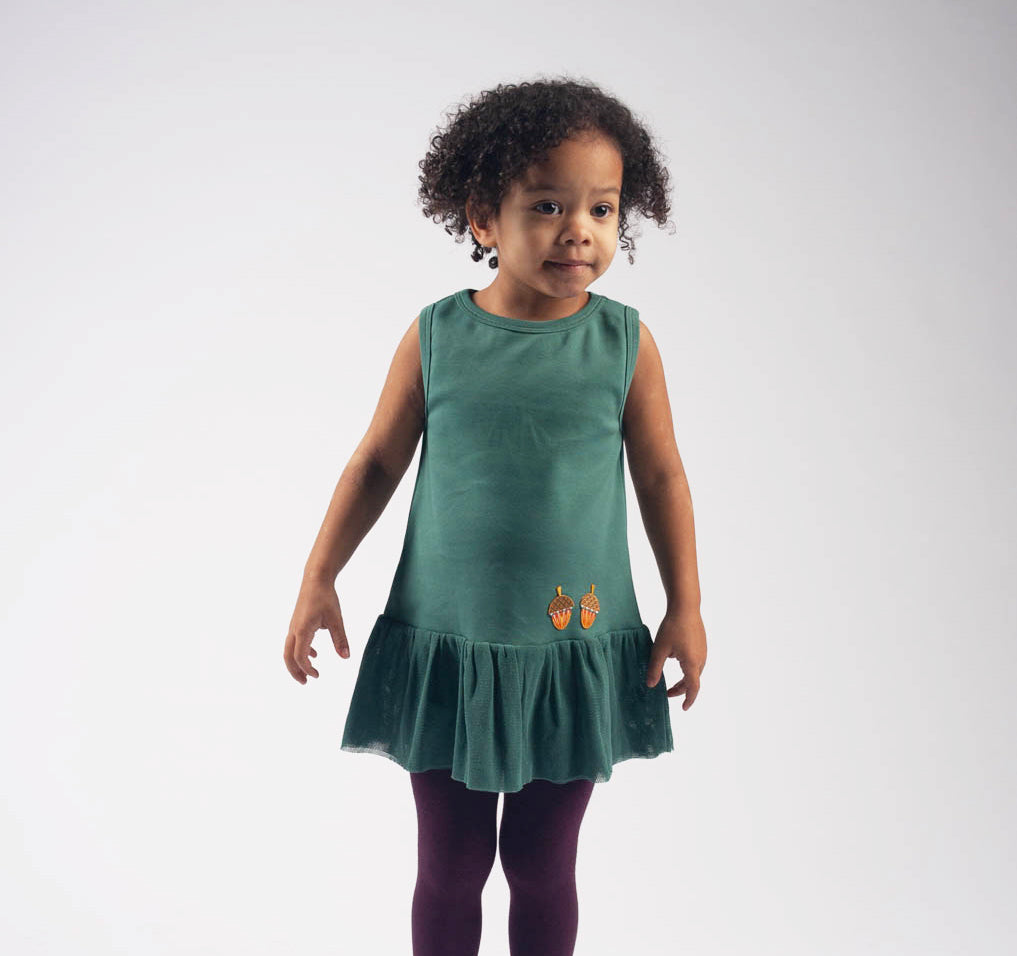 Giants pine green tulle dress