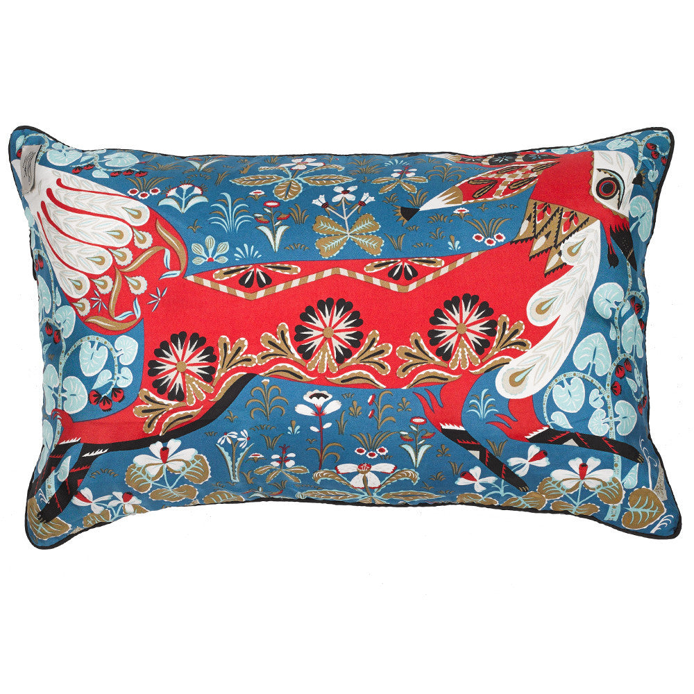 Running Fox Silk pillow