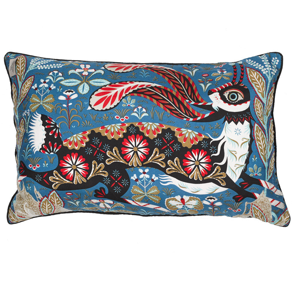 Running Hare Silk pillow