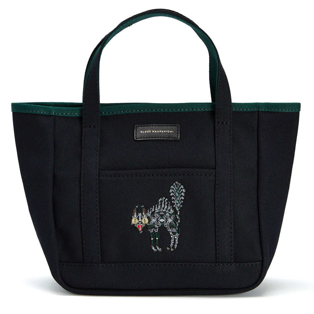 Canvas tote Scary Cat Black
