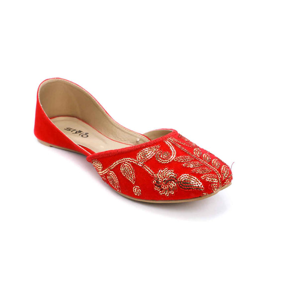 Buy Red Color Ethnic Khusa EC7193 at Shapago