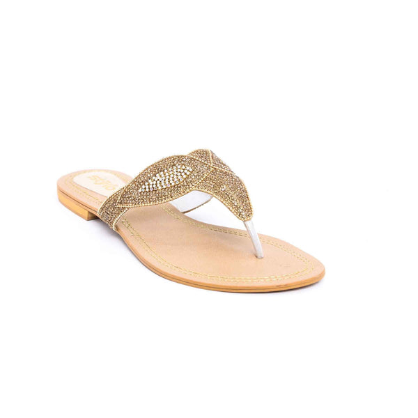 Buy Golden Color Fancy Chappal FN0134 at Shapago