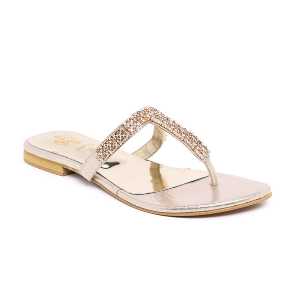 Buy Golden Color Fancy Chappal FN0144 at Shapago