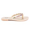 Stylo-Golden Color Fancy Chappal FN0162