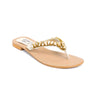 Buy Golden Color Fancy Chappal FN0181 at Shapago