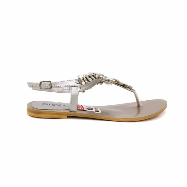 Stylo-Silver Color Fancy Sandal FN4088