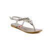 Buy Silver Color Fancy Sandal FN4088 at Shapago