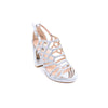 Buy Silver Color Fancy Sandal FN4350 at Shapago