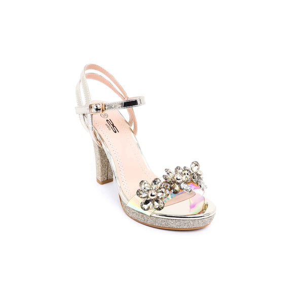 Buy Golden Color Fancy Sandal FN4356 at Shapago