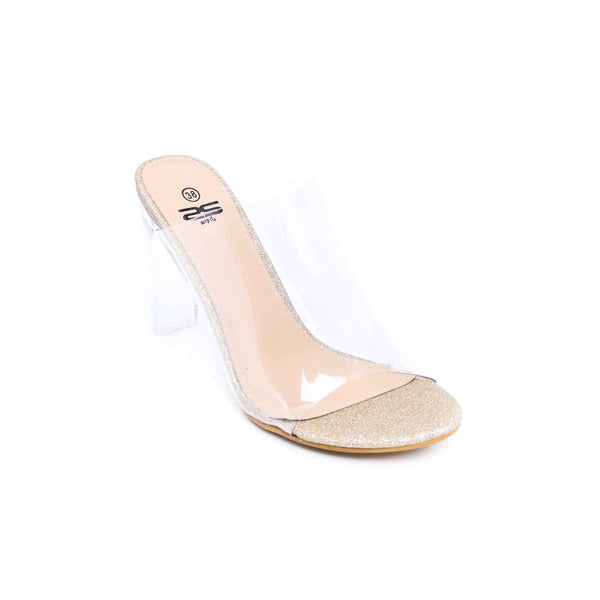 Buy Golden Color Fancy Slipper FN7145 at Shapago