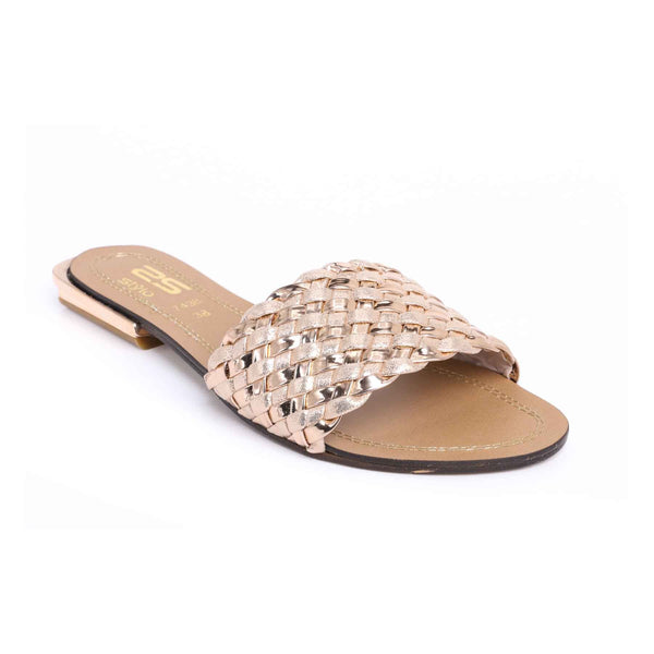 Buy Peach Color Formal Slipper FR7438 at Shapago