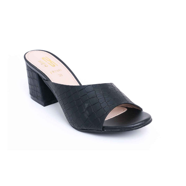 Buy Black Color Formal Slipper FR7445 at Shapago