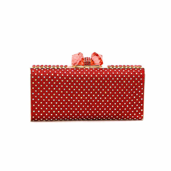 Stylo-Red Color Bags Clutch P13738