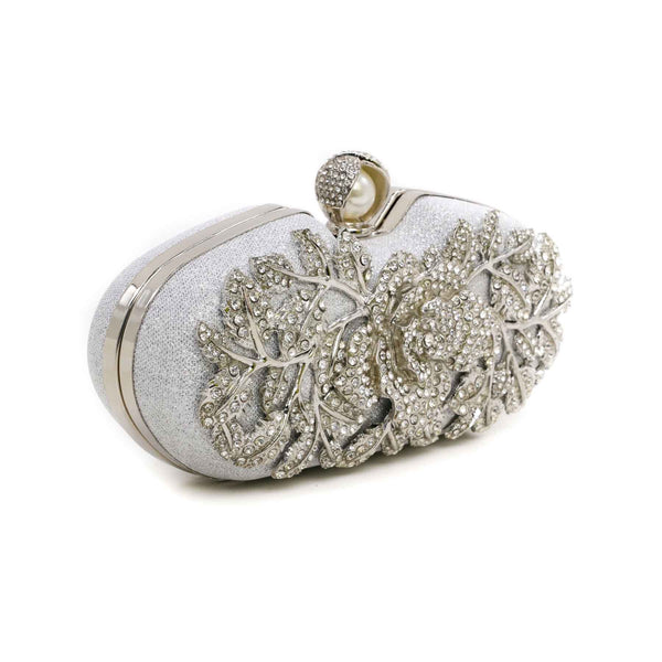 Buy Silver Color Bags Clutch P13744 at Shapago