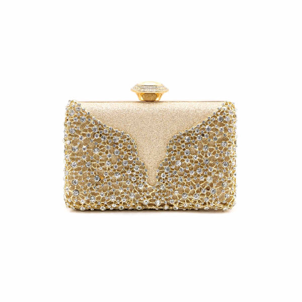 Stylo-Golden Color Bags Clutch P13745