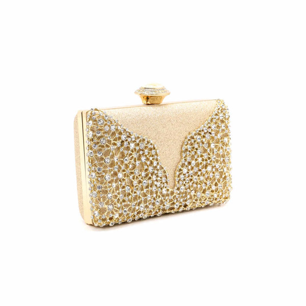 Buy Golden Color Bags Clutch P13745 at Shapago