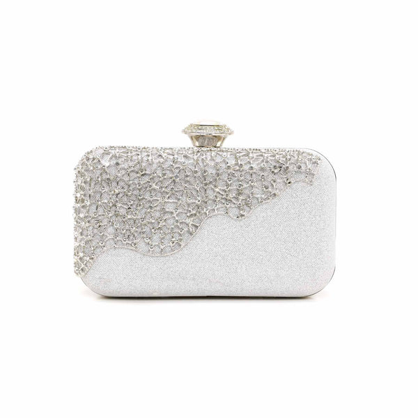 Stylo-Silver Color Bags Clutch P13747