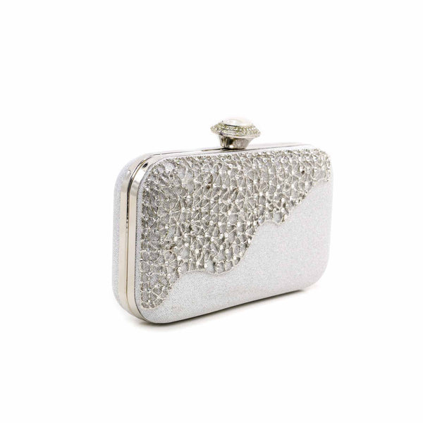 Buy Silver Color Bags Clutch P13747 at Shapago