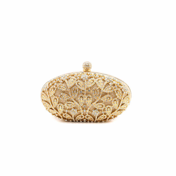 Stylo-Golden Color Bags Clutch P13748