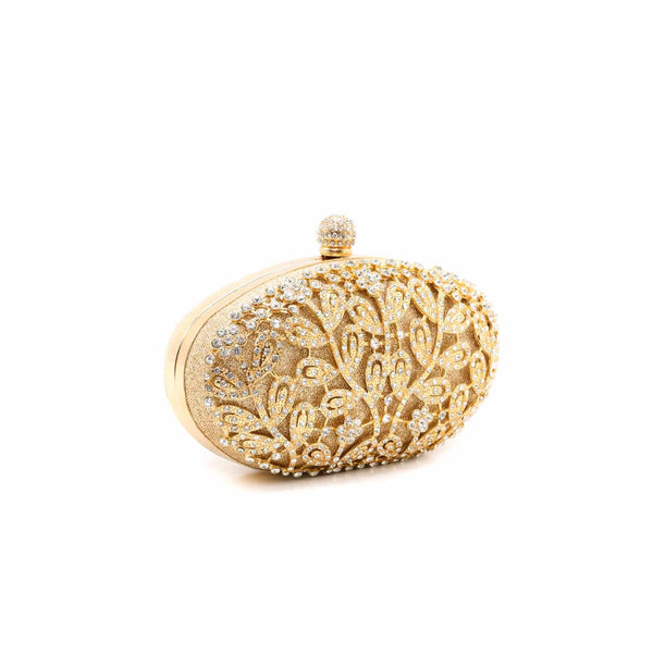 Buy Golden Color Bags Clutch P13748 at Shapago