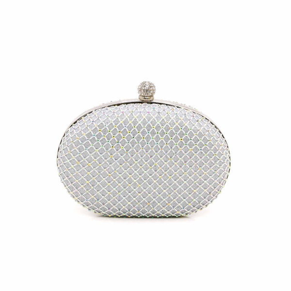 Stylo-Silver Color Bags Clutch P13749