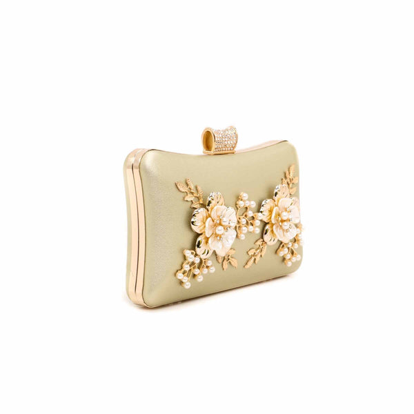 Buy Golden Color Bags Clutch P13756 at Shapago