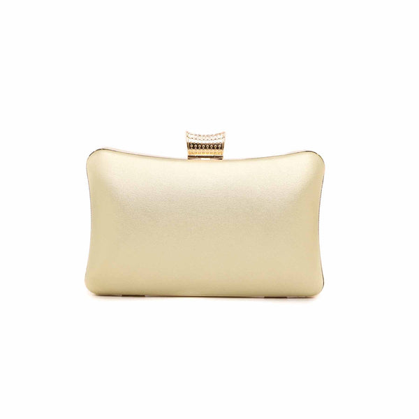 Stylo-Golden Color Bags Clutch P13756