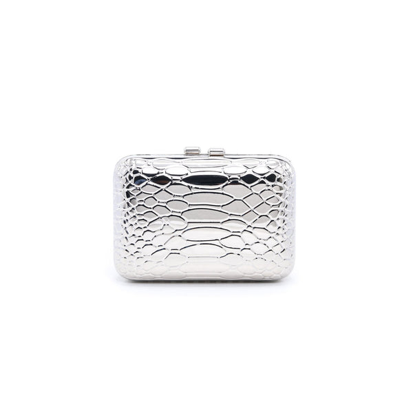 Stylo-Silver Color Bags Clutch P22977