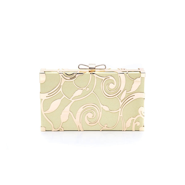 Stylo-Golden Color Bags Clutch P22980