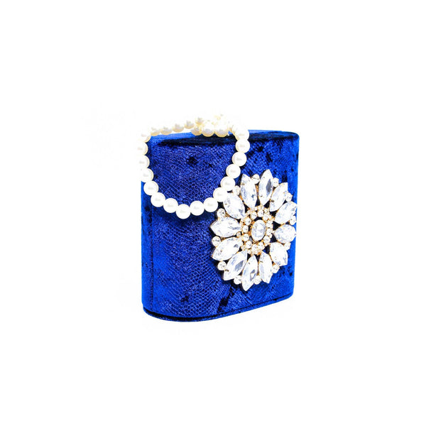Buy Blue Color Bags Clutch P23059 at Shapago