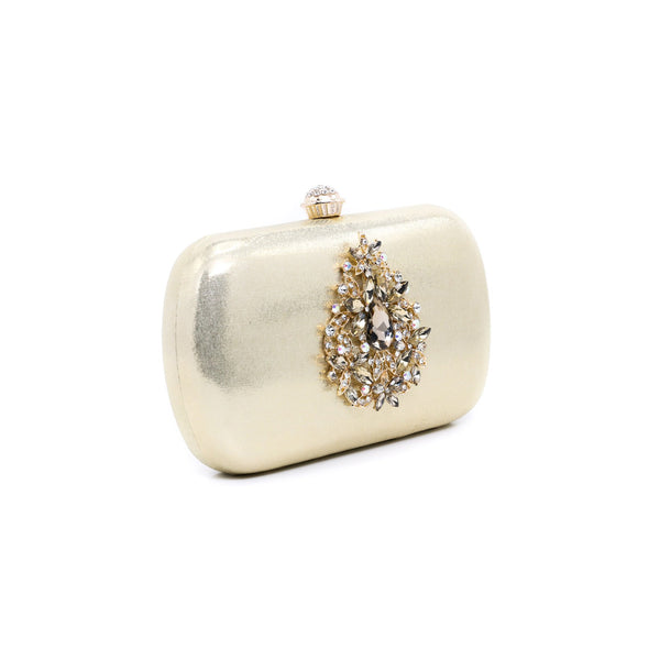 Buy Golden Color Bags Clutch P23065 at Shapago