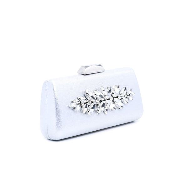 Buy Silver Color Bags Clutch P23067 at Shapago