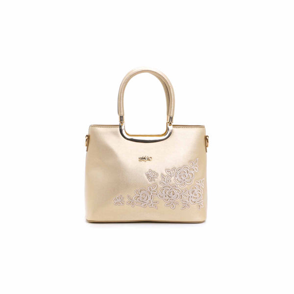 Stylo-Golden Color Bags Hand Bags P34733