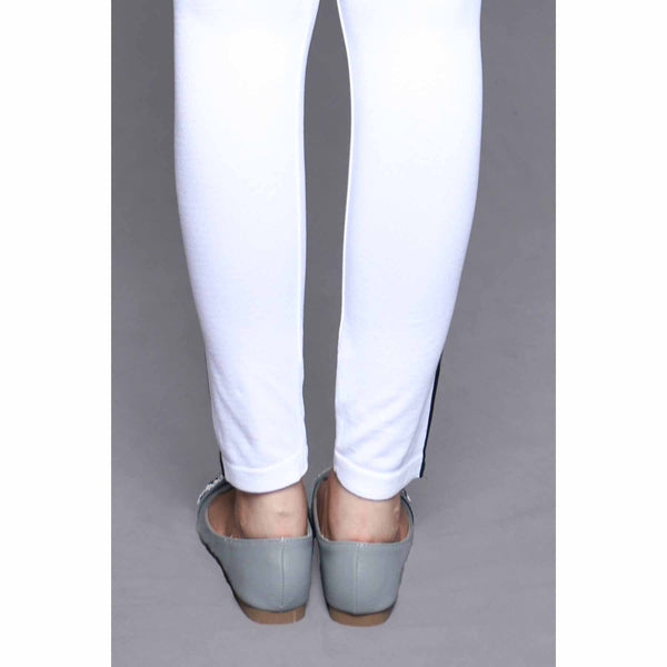 Stylo-White Color Lowers Plain Tights PN2061