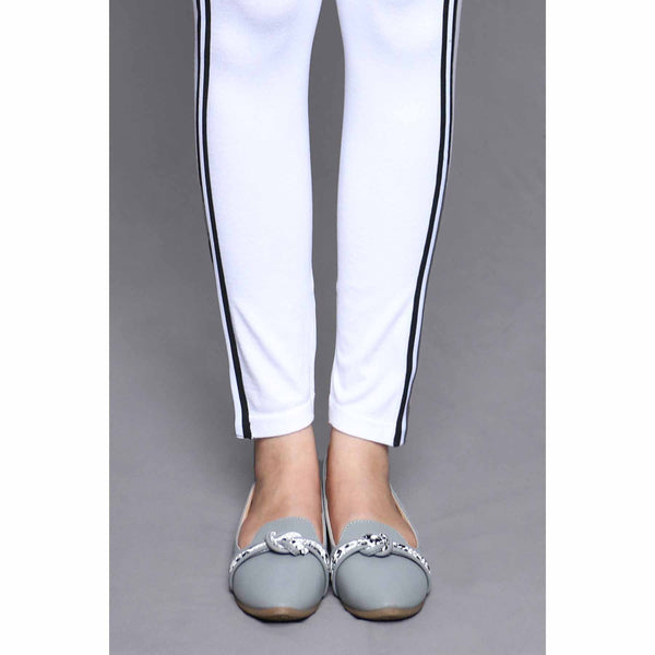 Buy White Color Lowers Plain Tights PN2061 at Shapago