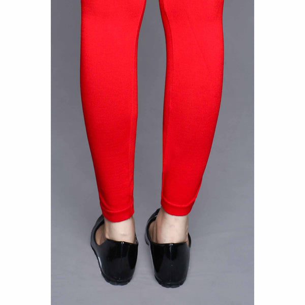 Stylo-Red Color Lowers Plain Tights PN2061