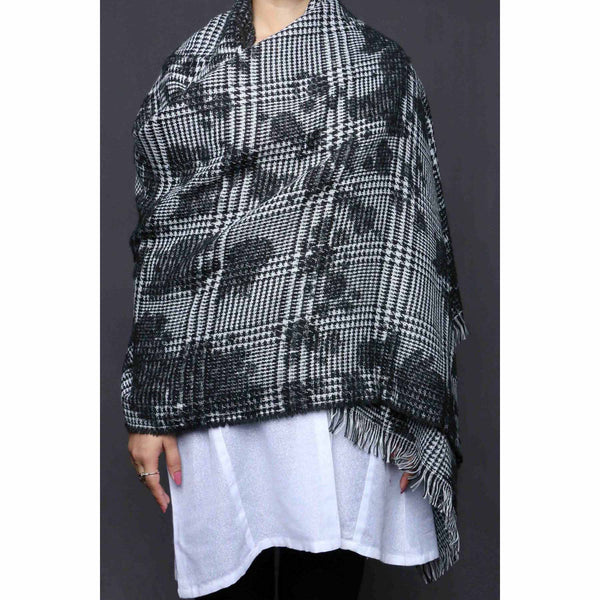 Buy Black Color Wraps Scarf PW0005 at Shapago