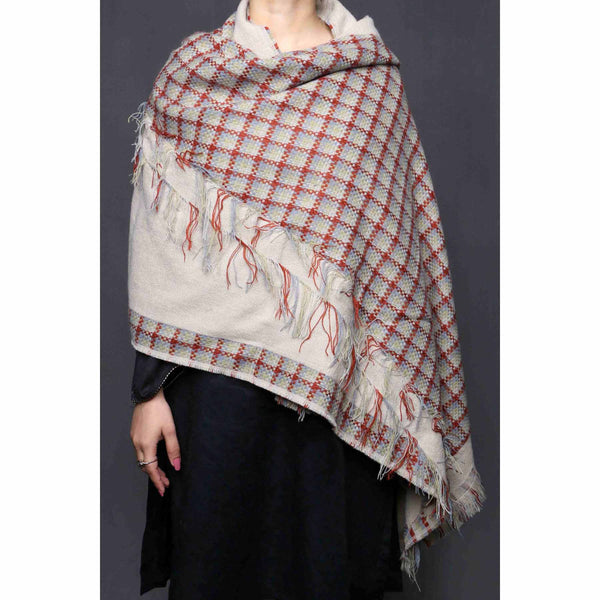 Buy Cream Color Wraps Scarf PW0008 at Shapago