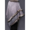 Stylo-Grey Color Uppers Cape Shawl PW0022