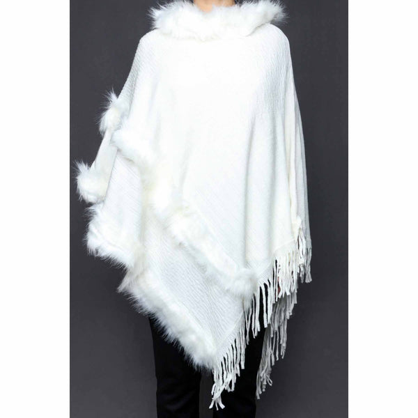 Buy White Color Uppers Cape Shawl PW0022 at Shapago