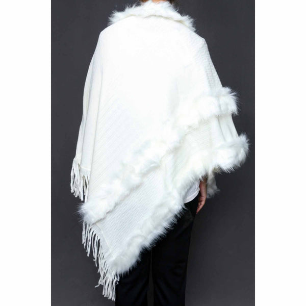 Stylo-White Color Uppers Cape Shawl PW0022