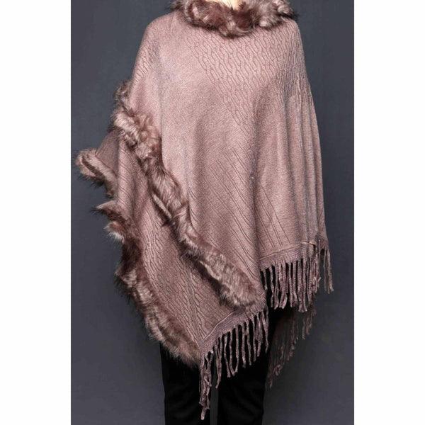 Buy Khaki Color Uppers Cape Shawl PW0022 at Shapago