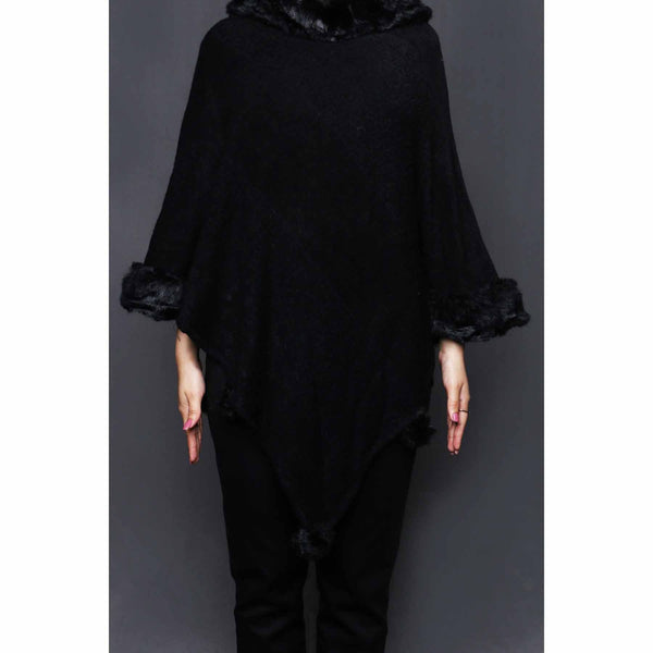 Buy Black Color Uppers Cape Shawl PW0024 at Shapago