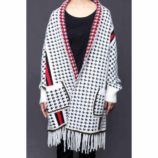 Buy White Color Uppers Cape Shawl PW0027 at Shapago