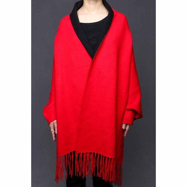 Buy Red Color Uppers Cape Shawl PW0029 at Shapago