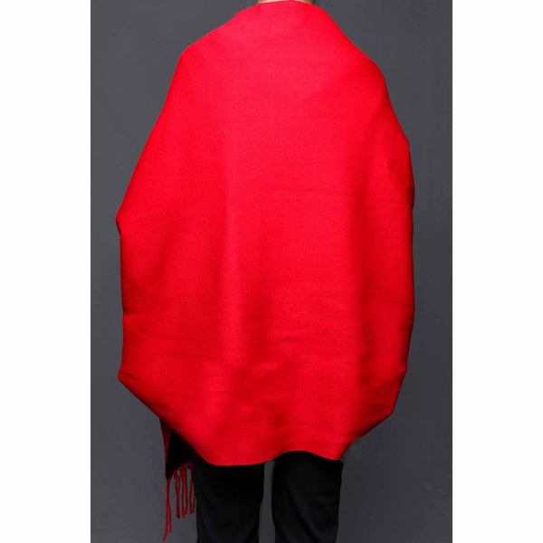 Stylo-Red Color Uppers Cape Shawl PW0029