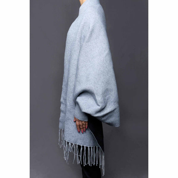 Stylo-Silver Color Uppers Cape Shawl PW0029