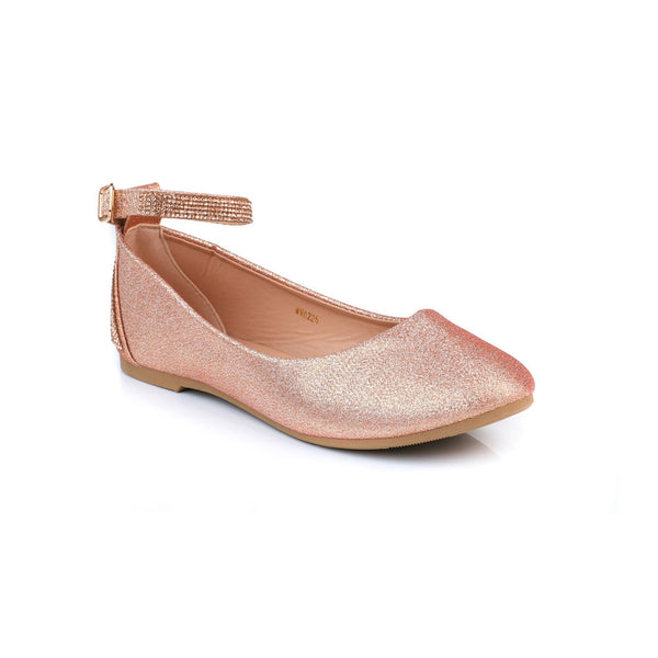 Buy Peach Color Winter Pumps WN0225 at Shapago