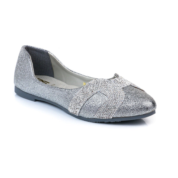 Buy Silver Color Winter Pumps WN0252 at Shapago